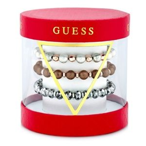 GUESS 3 - Pc Set Pave Beaded Stretch Bracelets